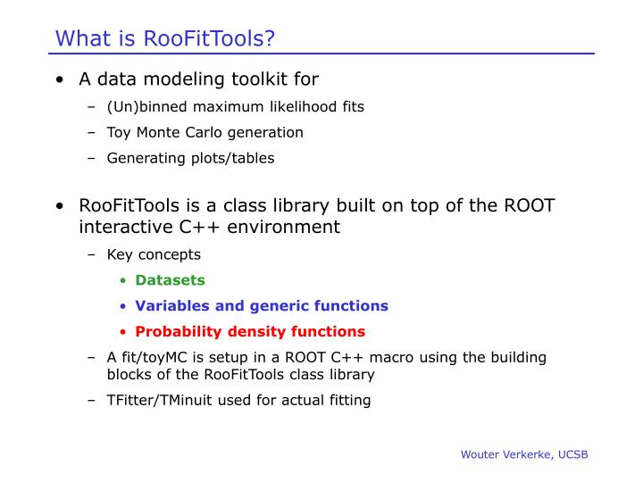 What is RooFitTools?