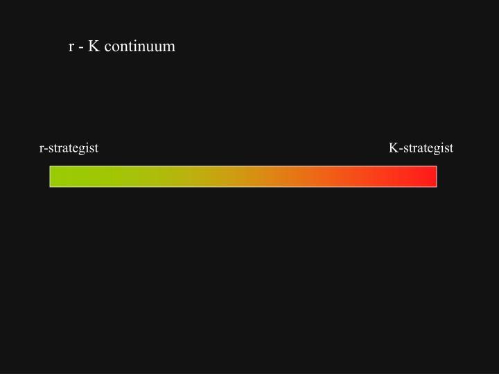 r - K continuum