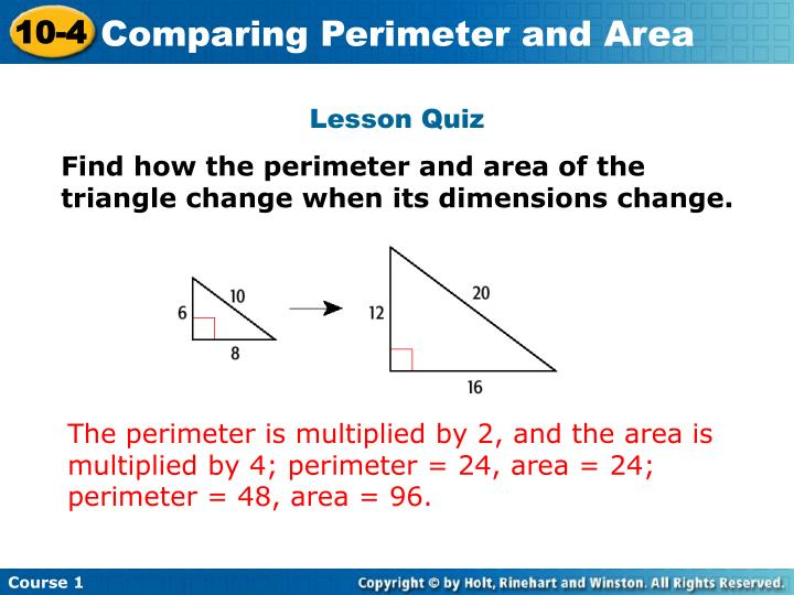 Comparing Perimeter and Area