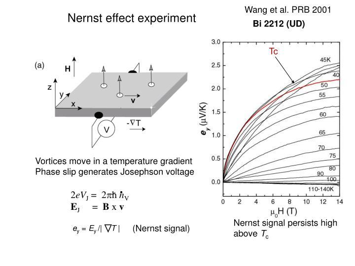 Vortices move in a temperature gradient
