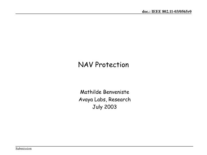 Nav protection