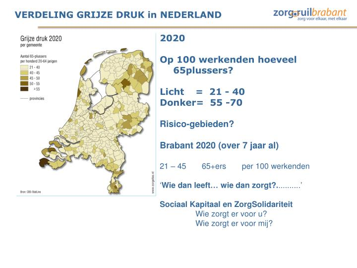 VERDELING GRIJZE DRUK in NEDERLAND