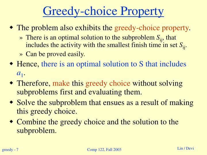 Greedy-choice Property