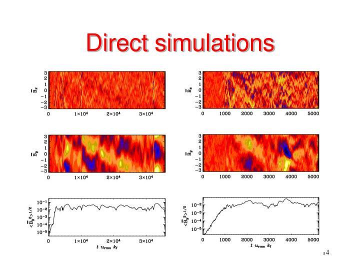 Direct simulations