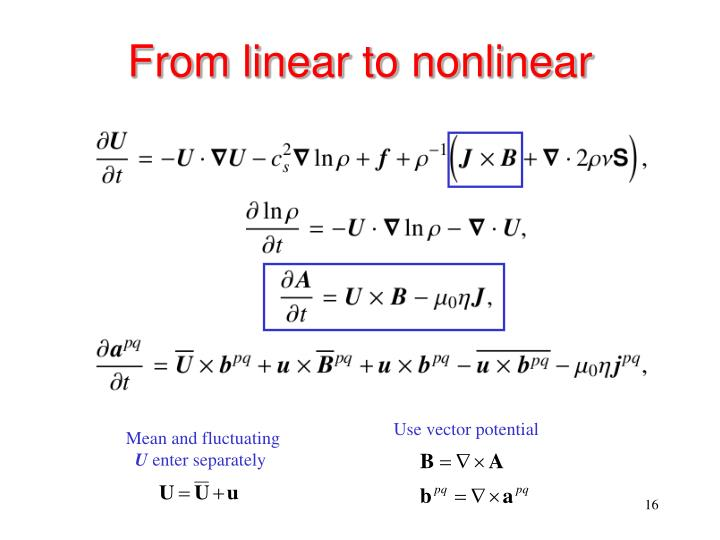 From linear to nonlinear