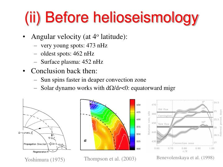 (ii) Before helioseismology