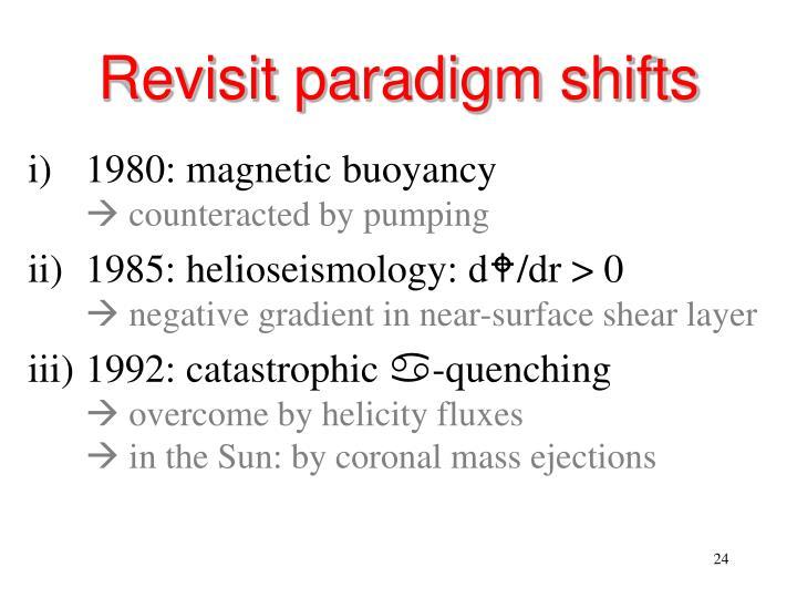 Revisit paradigm shifts
