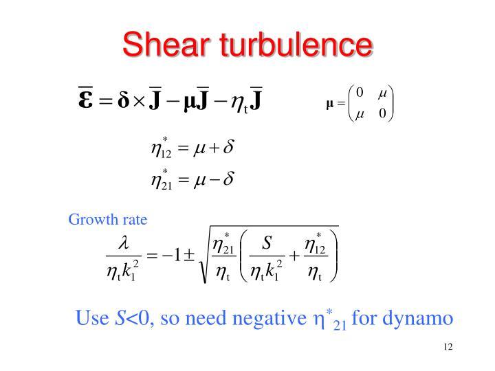 Shear turbulence