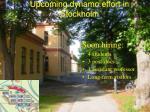 upcoming dynamo effort in stockholm