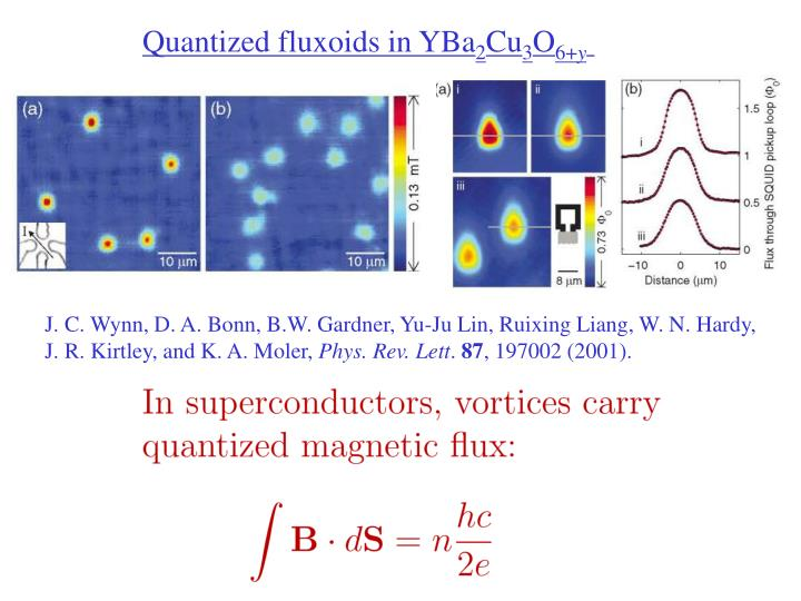 Quantized fluxoids in YBa