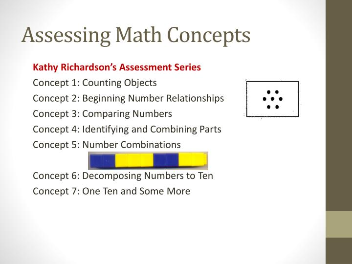 Assessing Math Concepts