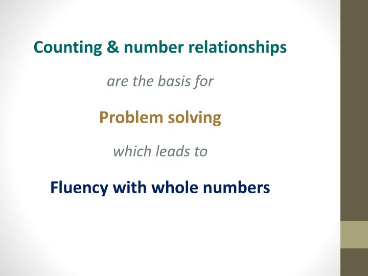 Counting & number relationships