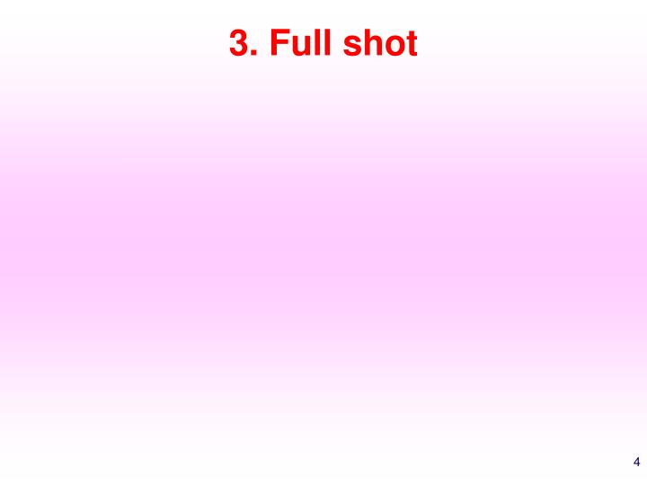 3. Full shot
