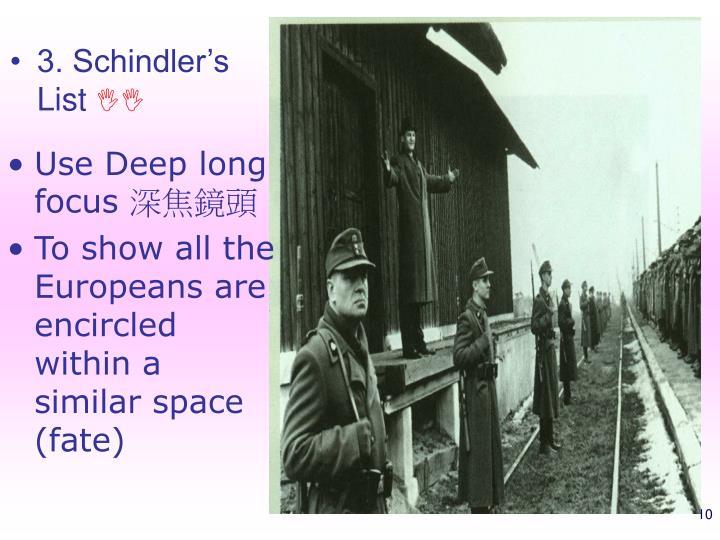 3. Schindler's List