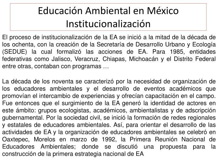 Educación Ambiental en México