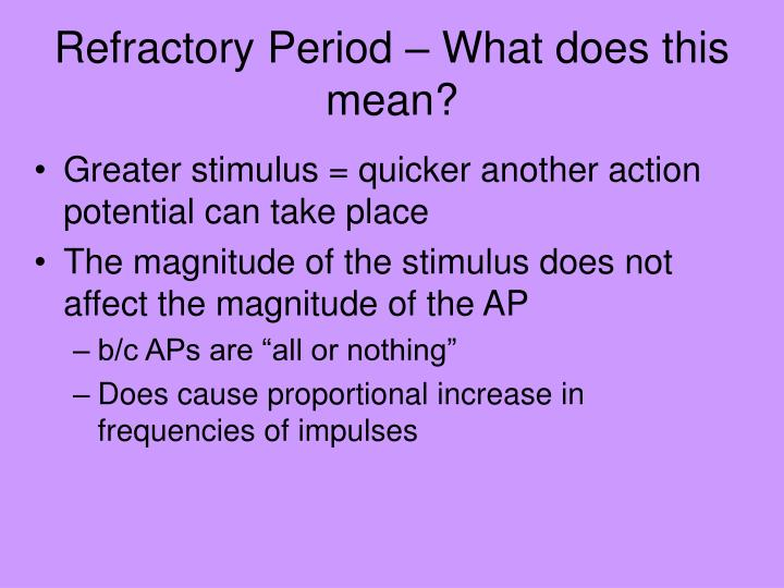 Refractory Period – What does this mean?