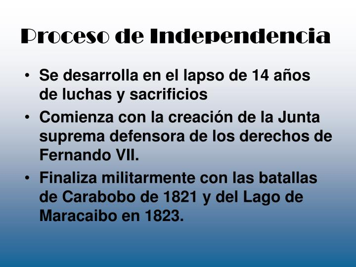 Proceso de Independencia