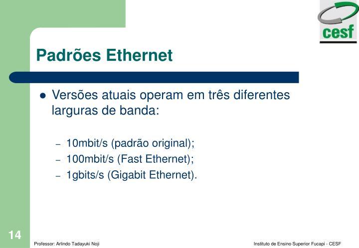 Padrões Ethernet