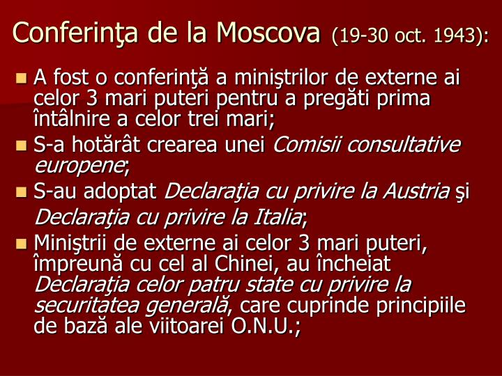 Conferinţa de la Moscova
