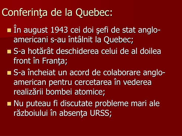 Conferinţa de la Quebec