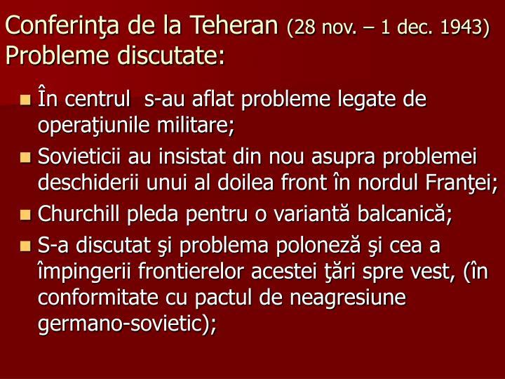 Conferinţa de la Teheran