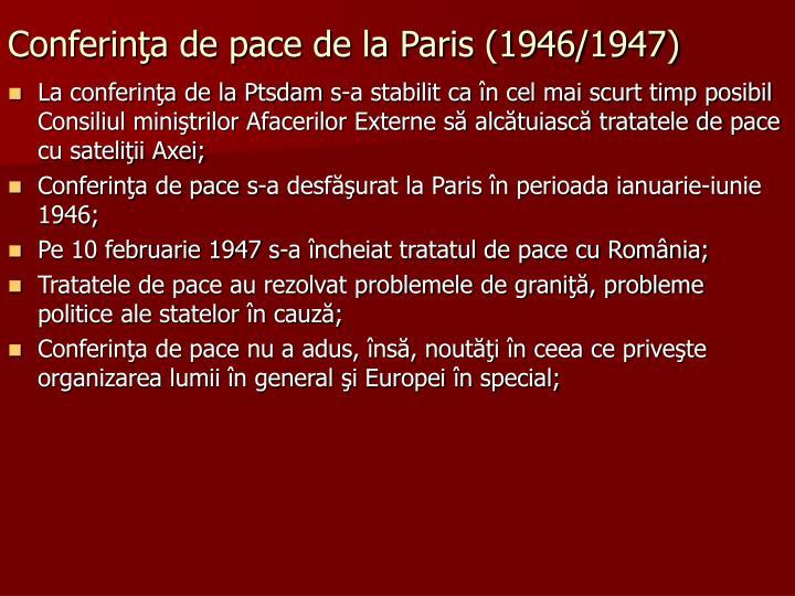 Conferinţa de pace de la Paris (1946/1947)