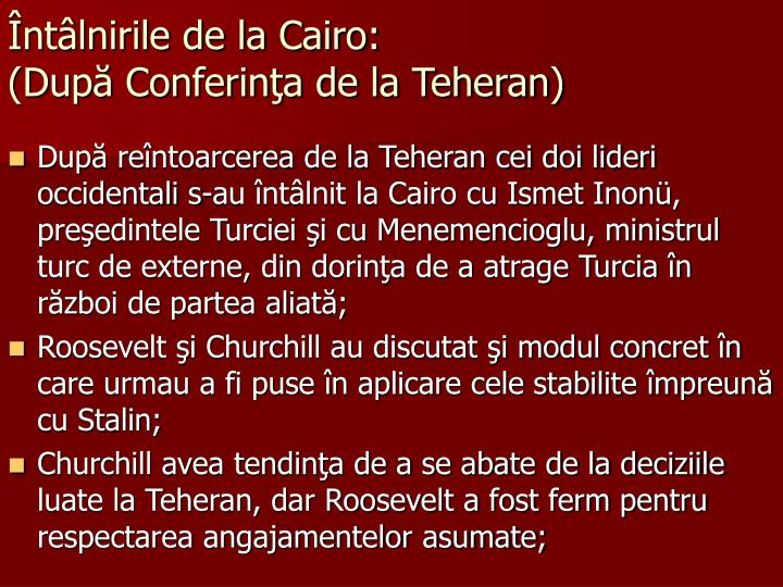 Întâlnirile de la Cairo: