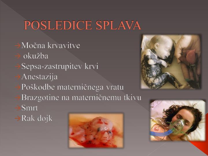 POSLEDICE SPLAVA