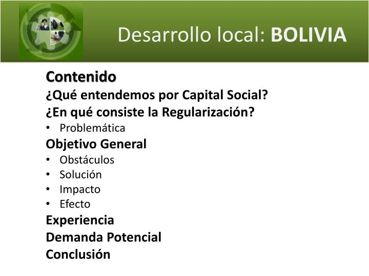 Desarrollo local bolivia