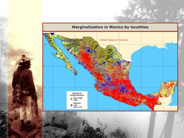 Marginalization in Mexico by localities