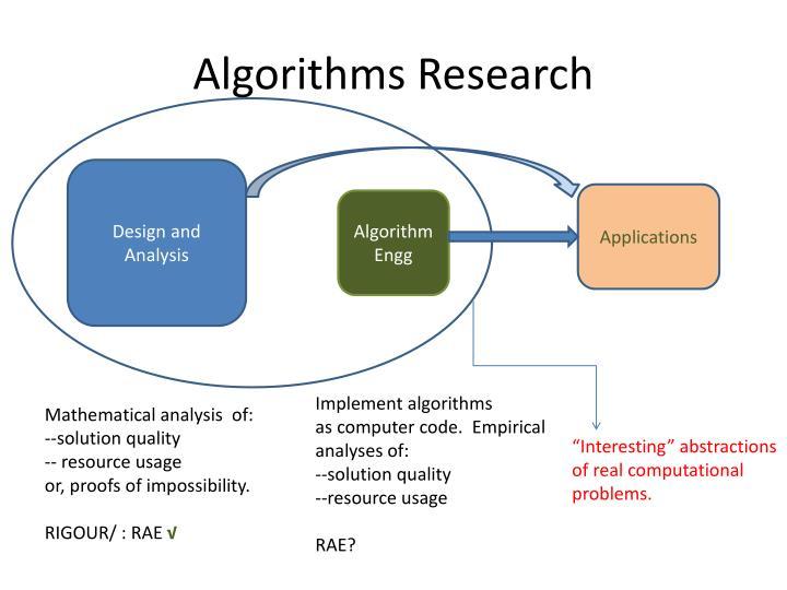 Algorithms Research