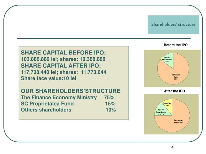 Shareholders' structure