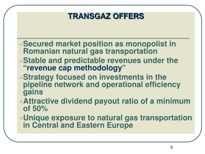 TRANSGAZ OFFERS
