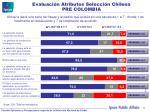evaluaci n atributos selecci n chilena pre colombia