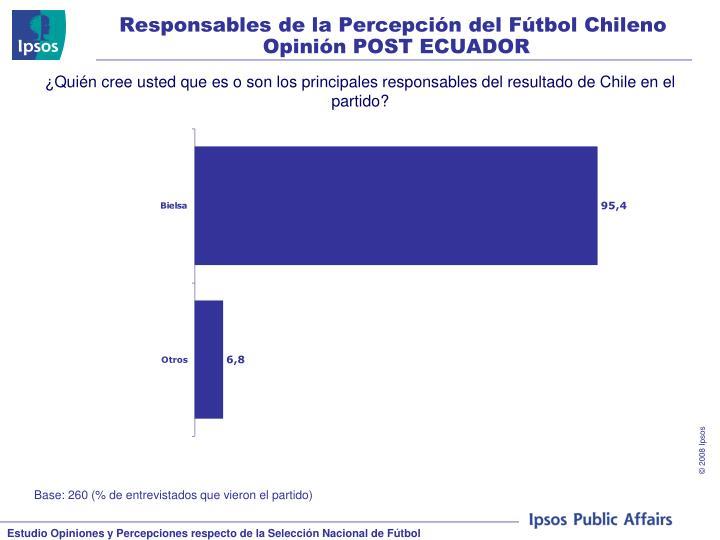 Responsables de la Percepción del Fútbol Chileno