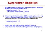 synchrotron radiation