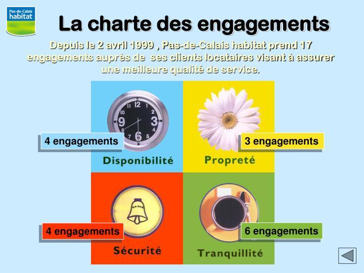 La charte des engagements