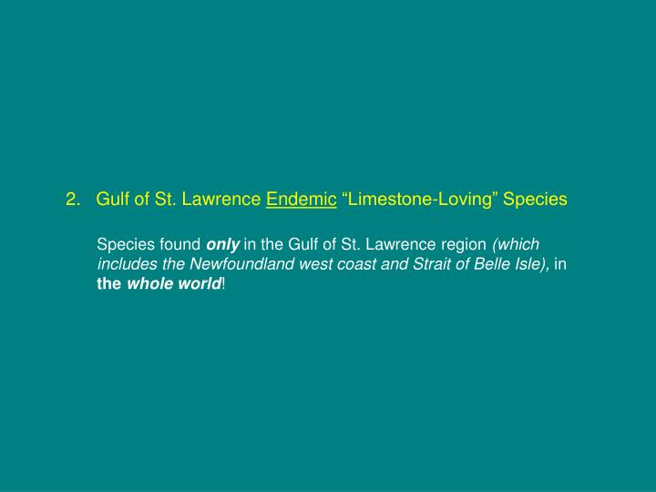 2.   Gulf of St. Lawrence
