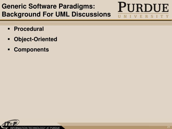 Generic Software Paradigms: