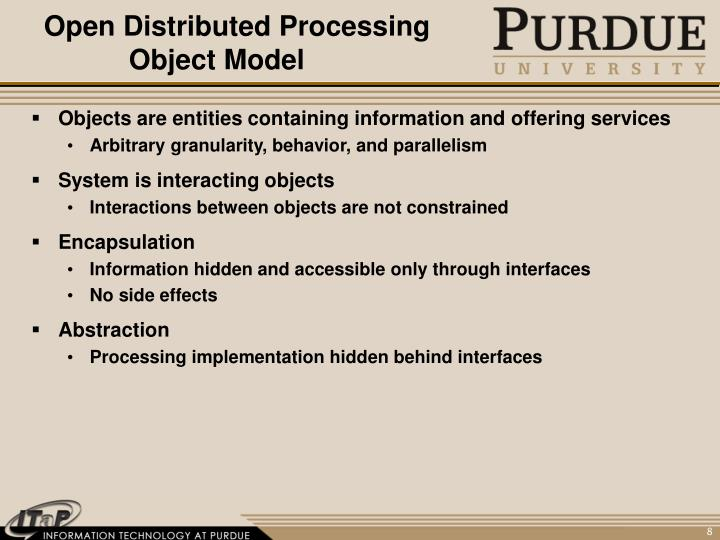 Open Distributed Processing Object Model