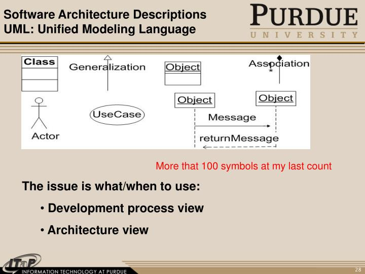 Software Architecture Descriptions