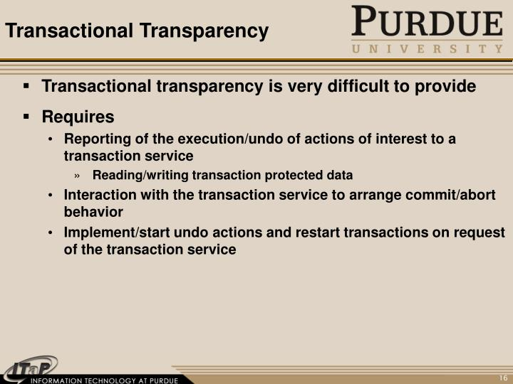 Transactional Transparency