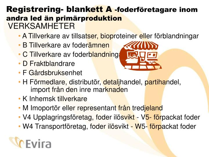 Registrering- blankett A
