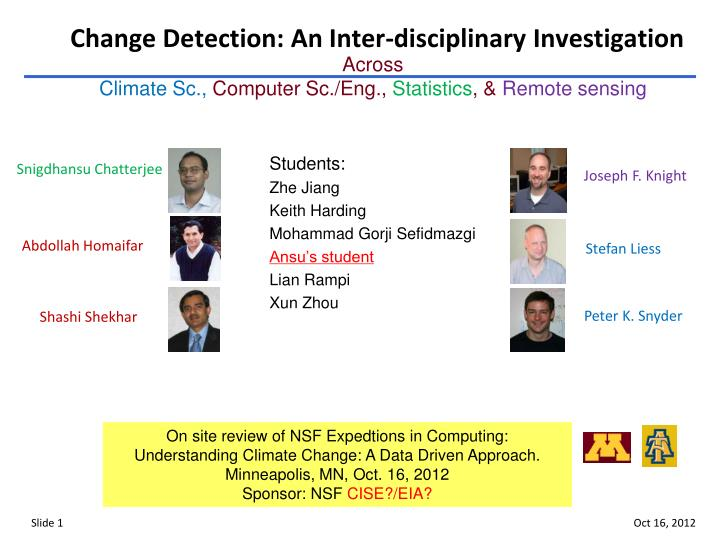 Change detection an inter disciplinary investigation