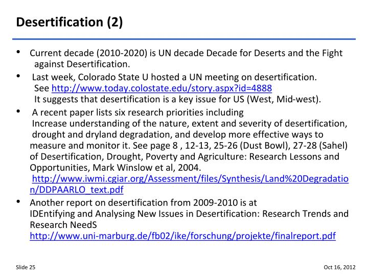 Desertification (2)