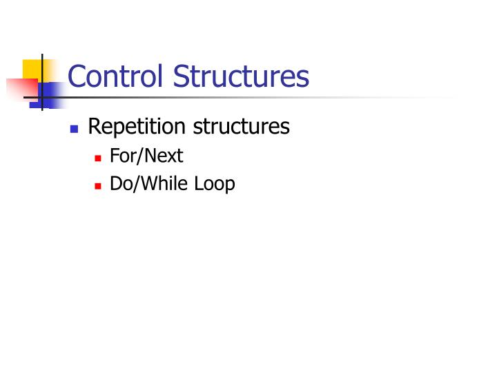 Control structures1