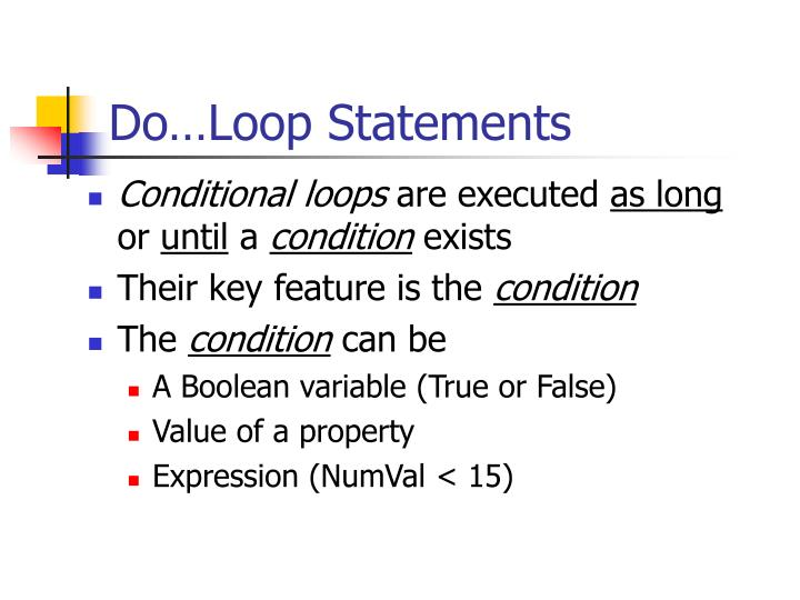 Do…Loop Statements
