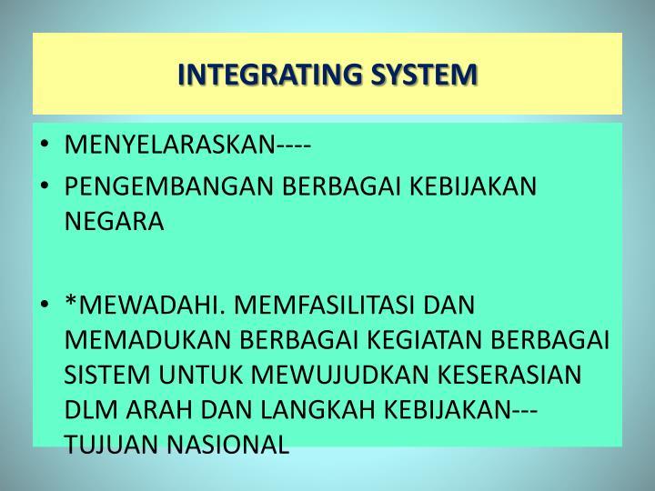 INTEGRATING SYSTEM