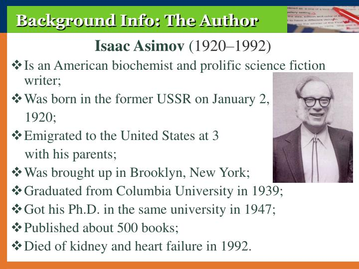 Background Info: The Author
