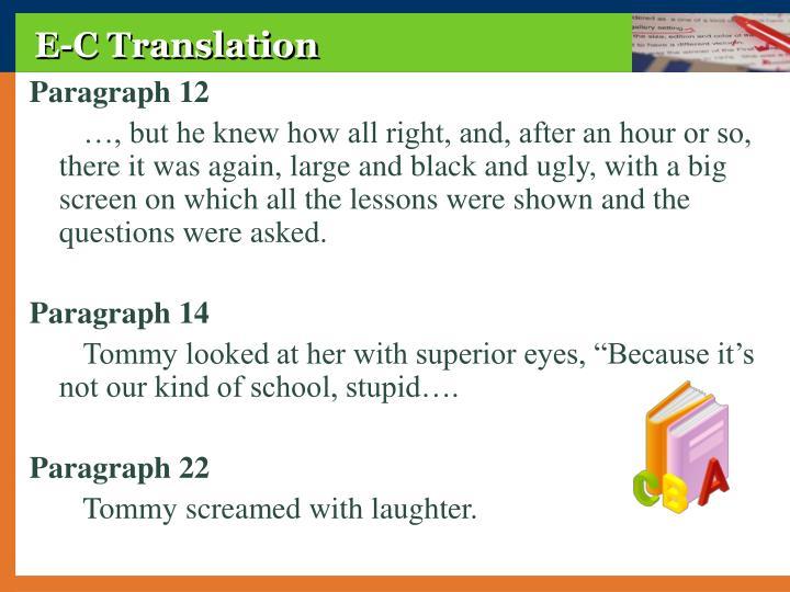 E-C Translation